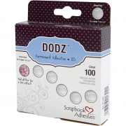 Dodz Adhesive Dots, Dia. 12 mm, tjocklek 2 mm, 100 st./ 1 förp.