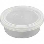 Plastburk med lock, H: 24 mm, dia. 68 mm, , 20st., 45 ml