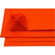 Dragspelspapper,  28x17,8 cm, orange, 8ark