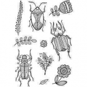 Clear Stamps, insekter, 11x15,5 cm, 1 ark