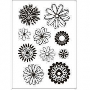 Clear Stamps,  11x15,5 cm, blommor, 1ark
