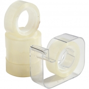 Dispenser med tejp, B: 15 mm, 1set