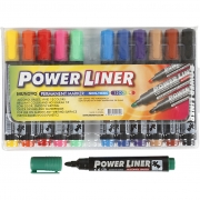 Power Liner, spets: 1,5-3 mm, mixade färger, 12st.
