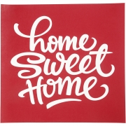 Screen stensil,  20x22 cm, Home sweet home, 1ark