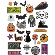 Tags, stl. 20-100 mm,  250 g, halloween, 48st.