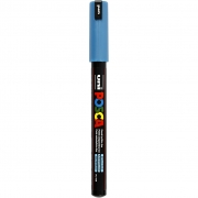 Uni Posca Marker , spets: 0,7 mm,  PC-1MR , metallic blue, Extra fine, 1st.