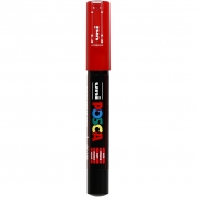 Uni Posca Marker , spets: 0,7 mm,  PC-1M , red, Extra fin, 1st.