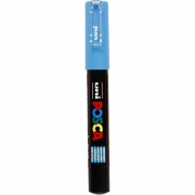 Uni Posca Marker , spets: 0,7 mm,  PC-1M , light blue, Extra fine, 1st.