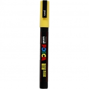 Uni Posca Marker , spets: 0,9-1,3 mm,  PC-3M , yellow, Fine, 1st.