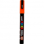 Uni Posca Marker , spets: 0,9-1,3 mm,  PC-3M , orange, Fine, 1st.