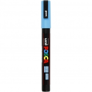 Uni Posca Marker , spets: 0,9-1,3 mm,  PC-3M , light blue, Fine, 1st.