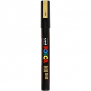 Uni Posca Marker , spets: 0,9-1,3 mm,  PC-3M , gold, Fine, 1st.