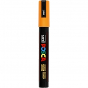 Uni Posca Marker , spets: 2,5 mm,  PC-5M , bright yellow, Medium, 1st.