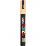 Uni Posca Marker , spets: 2,5 mm,  PC-5M , pale orange, Medium, 1st.