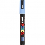 Uni Posca Marker , spets: 2,5 mm,  PC-5M , sky blue, Medium, 1st.