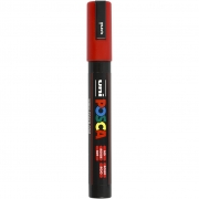 Uni Posca Marker , spets: 2,5 mm,  PC-5M , red, Medium, 1st.