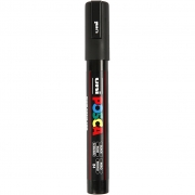Posca Marker , spets: 2,5 mm,  PC-5M , black, Mediium, 1st.