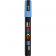 Uni Posca Marker , spets: 2,5 mm,  PC-5M , light blue, Medium, 1st.