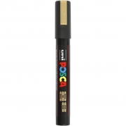 Uni Posca Marker , spets: 2,5 mm,  PC-5M , gold, Medium, 1st.