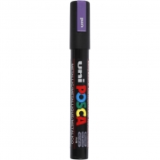 Uni Posca Marker , spets: 2,5 mm,  PC-5M , metallic violet, Medium, 1st.