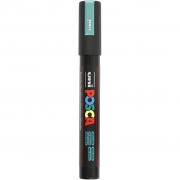 Uni Posca Marker , spets: 2,5 mm,  PC-5M , metallic green, Medium, 1st.