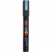 Uni Posca Marker , spets: 2,5 mm,  PC-5M , metallic blue, Medium, 1st.