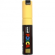 Uni Posca Marker , spets: 8 mm,  PC-8K , straw yellow, Broad, 1st.