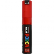 Uni Posca Marker , spets: 8 mm,  PC-8K , red, Broad, 1st.