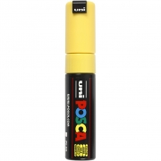 Uni Posca Marker , spets: 8 mm,  PC-8K , yellow, Broad, 1st.