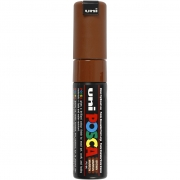 Uni Posca Marker , spets: 8 mm,  PC-8K , brown, Broad, 1st.