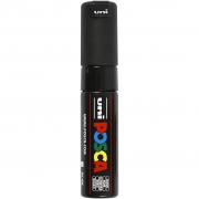 Uni Posca Marker , spets: 8 mm,  PC-8K , black, Broad, 1st.