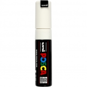 Uni Posca Marker , spets: 8 mm,  PC-8K , white, Broad, 1st.