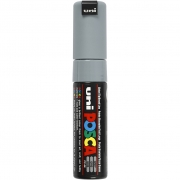 Uni Posca Marker , spets: 8 mm,  PC-8K , grey, Broad, 1st.