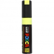 Uni Posca Marker , spets: 8 mm,  PC-8K , fluo yellow, Broad, 1st.