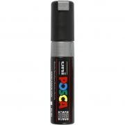 Posca Marker , spets: 8 mm,  PC-8K , silver, Broad, 1st.
