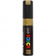 Uni Posca Marker , spets: 8 mm,  PC-8K , gold, Broad, 1st.