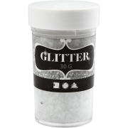 Glitter, stl. 1-3 mm, transparent, 30g