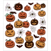 Stickers,  15x16,5 cm, halloweenpumpor, 1ark