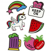 Soft Stickers,  12,2x17,75 cm, Keep on, 1ark