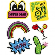 Soft Stickers,  12,2x17,75 cm, Super Star, 1ark