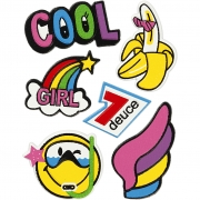 Soft Stickers,  12,2x17,75 cm, Cool Girl, 1ark