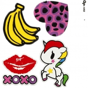 Soft Stickers,  12,2x17,75 cm, XOXO, 1ark