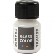 Glasfärg transparent, 35 ml, vit