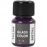 Glasfärg metall, 35 ml, lila