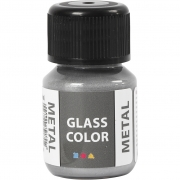 Glasfärg metall, 35 ml, silver