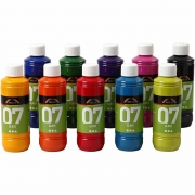 A-Color Glas, 10x250 ml, mixade färger