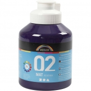 A-color matt readymix, violett, 02 - matt (plakatfärg), 500ml