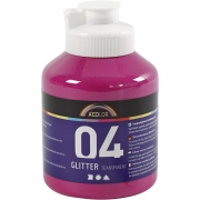 A-Color akrylfärg, pink, 04 - glitter, 500ml