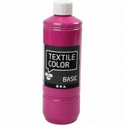 Textile Color textilfärg, pink, 500ml
