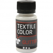 Textile Color textilfärg, transparent, Glitter, 50ml